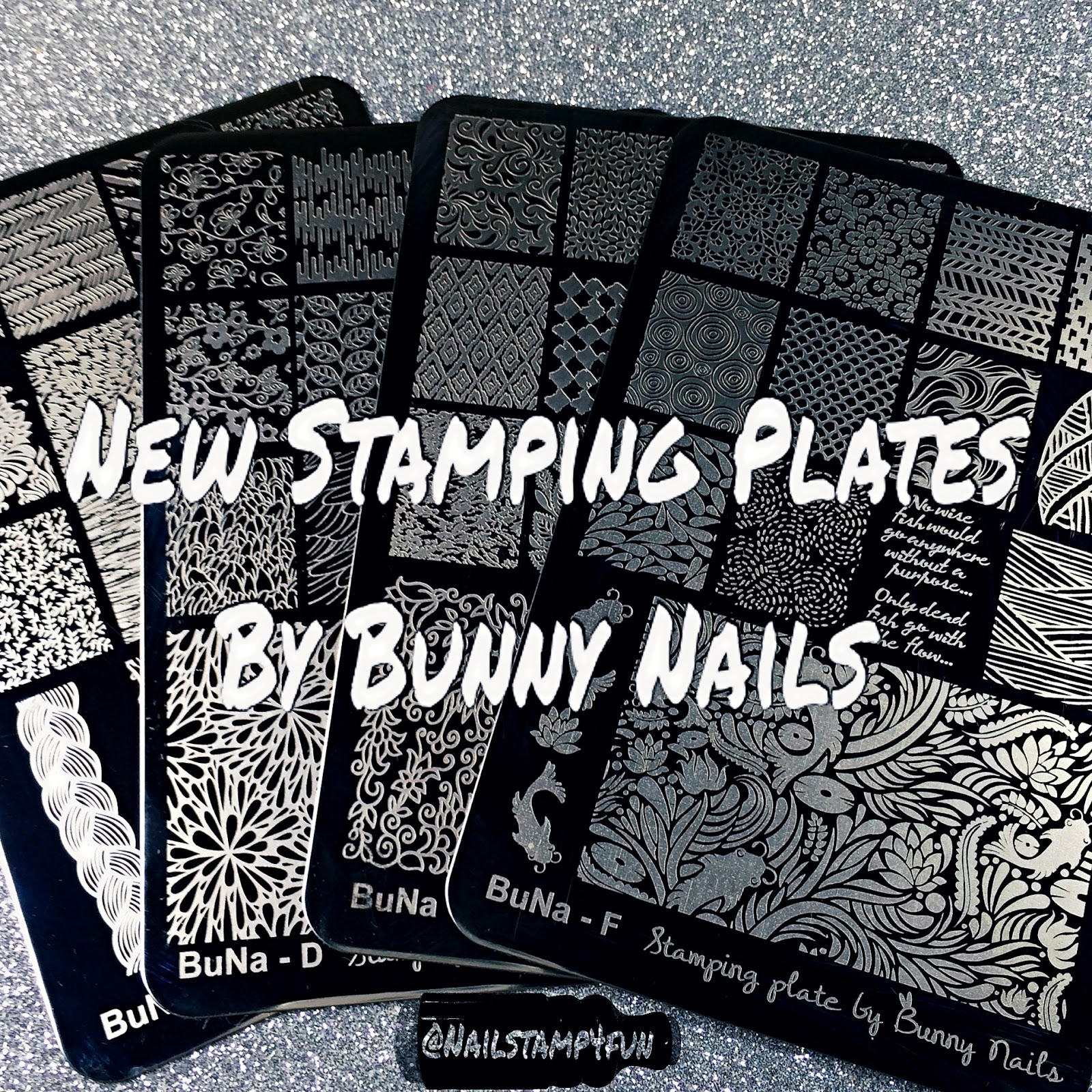 Nail Stamp 4 Fun: New Stamping Plates By Bunny Nails