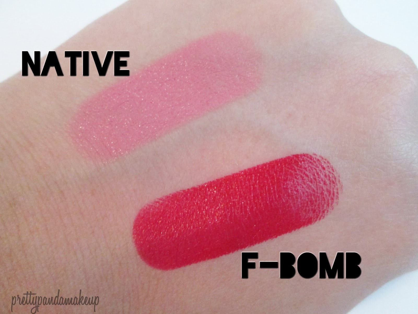 ... Urban Decay Revolution Lipsticks in F-Bomb and Native: Swatches and