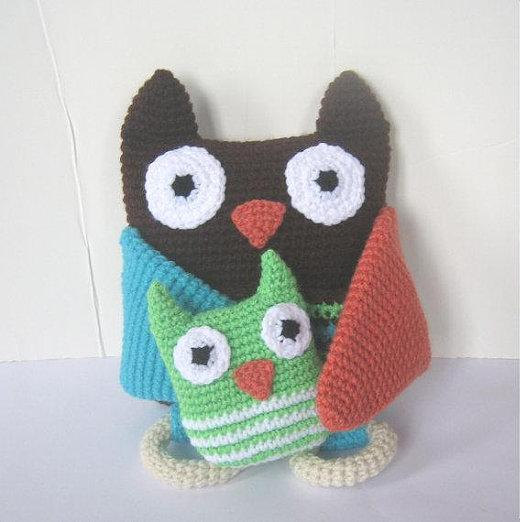 Crochet Pattern Owl Baby : CROCHET N PLAY DESIGNS: New Crochet Pattern: Mama and Baby Owl
