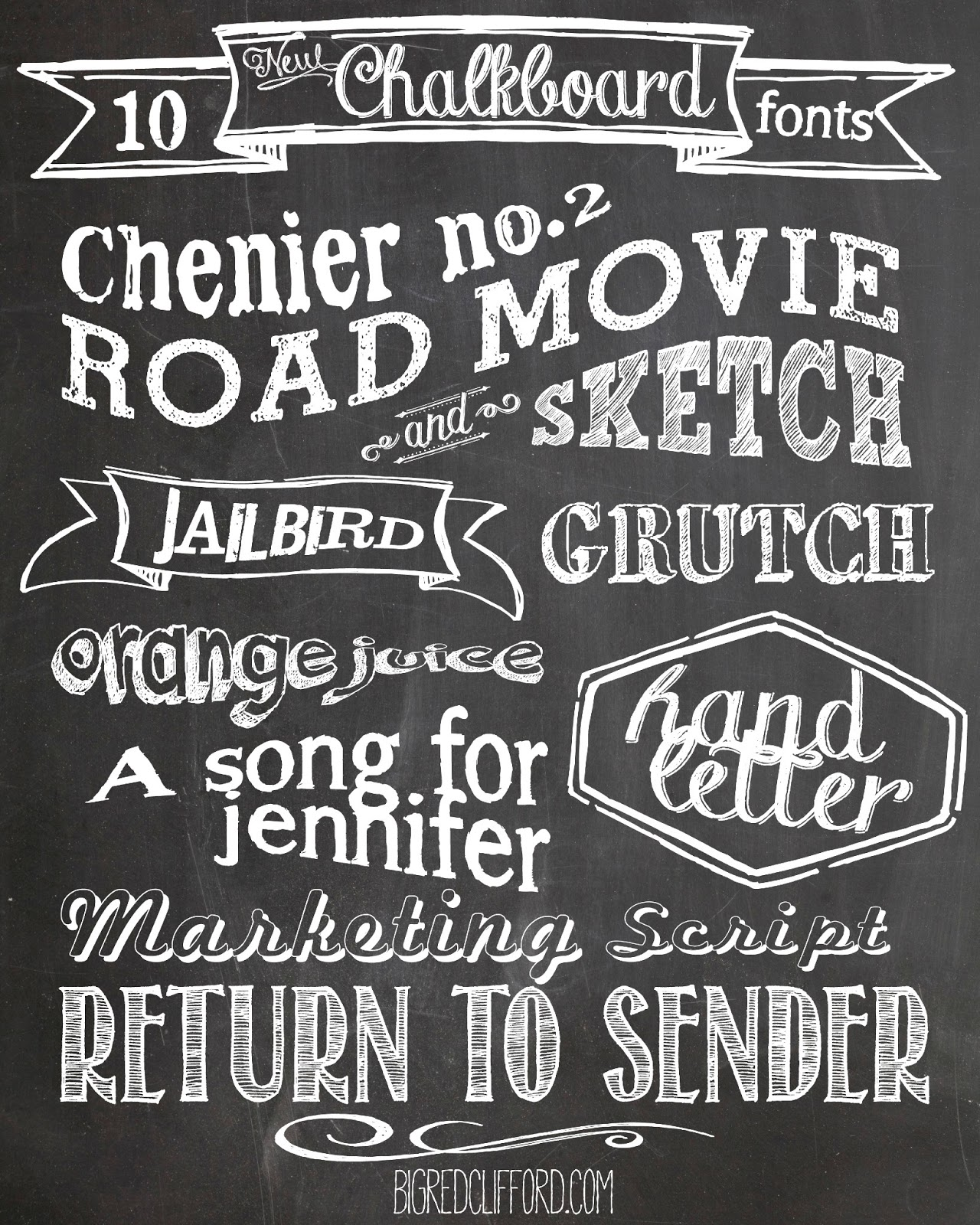 Free chalkboard fonts free printables