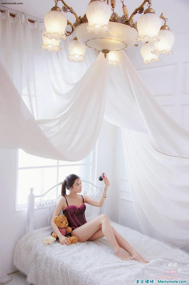 Innocent stewardess charming boudoir lingerie photo