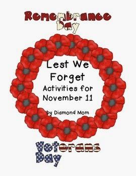 http://www.teacherspayteachers.com/Product/Remembrance-DayVeterans-Day-Activities-957359