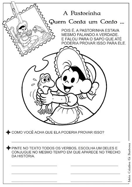 Atividade A Pastorinha - Verbos Pág 8