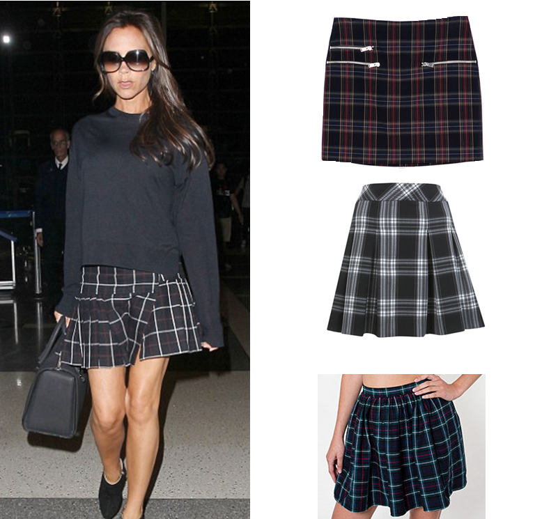 Victoria Beckham Tartan Plaid Skirt Inspiration Fashion Winter