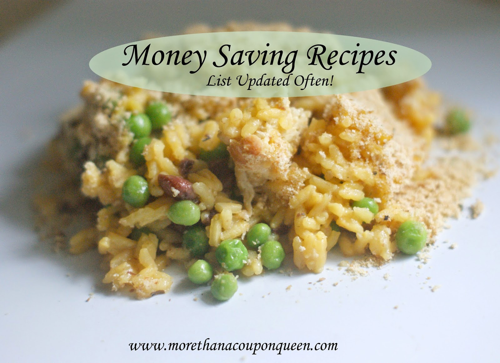 Money Saving Recipes - List Updated Often, Enjoy meals without breaking the bank