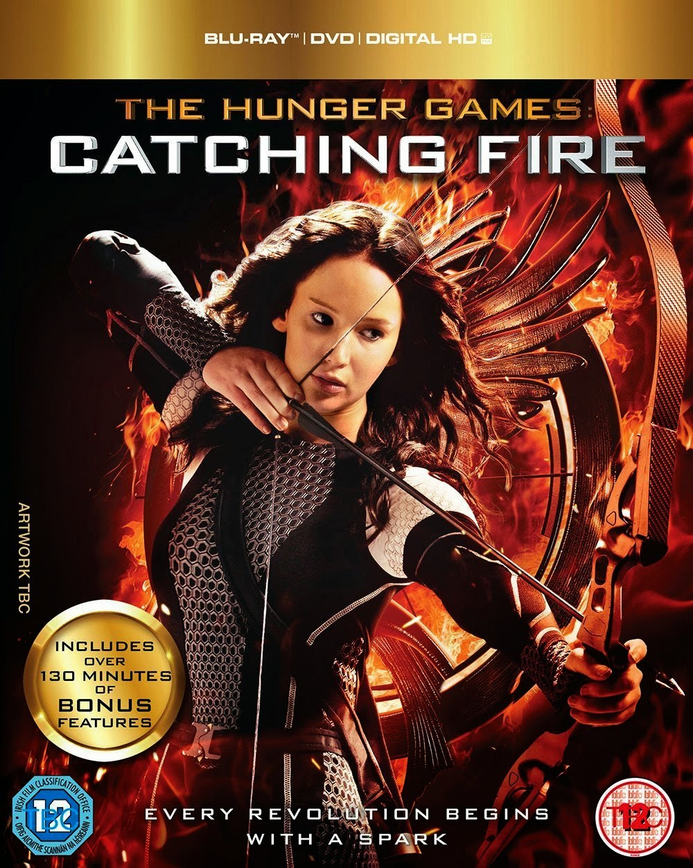 Hunger Games Catching Fire Blu Ray