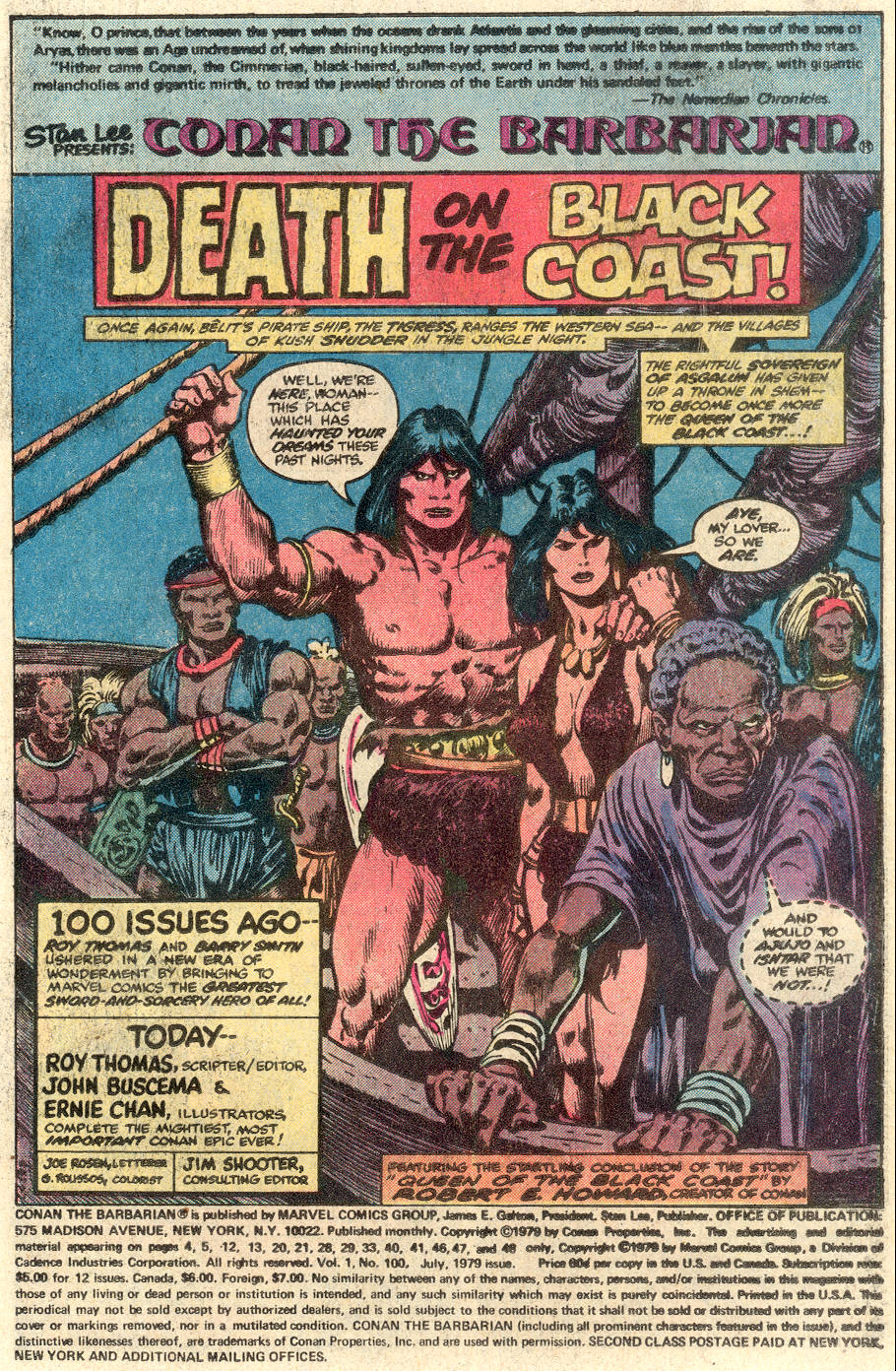 Conan the Barbarian (1970) Issue #100 #112 - English 2