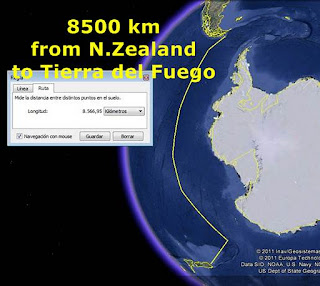 New Zealand to Tierra del Fuego