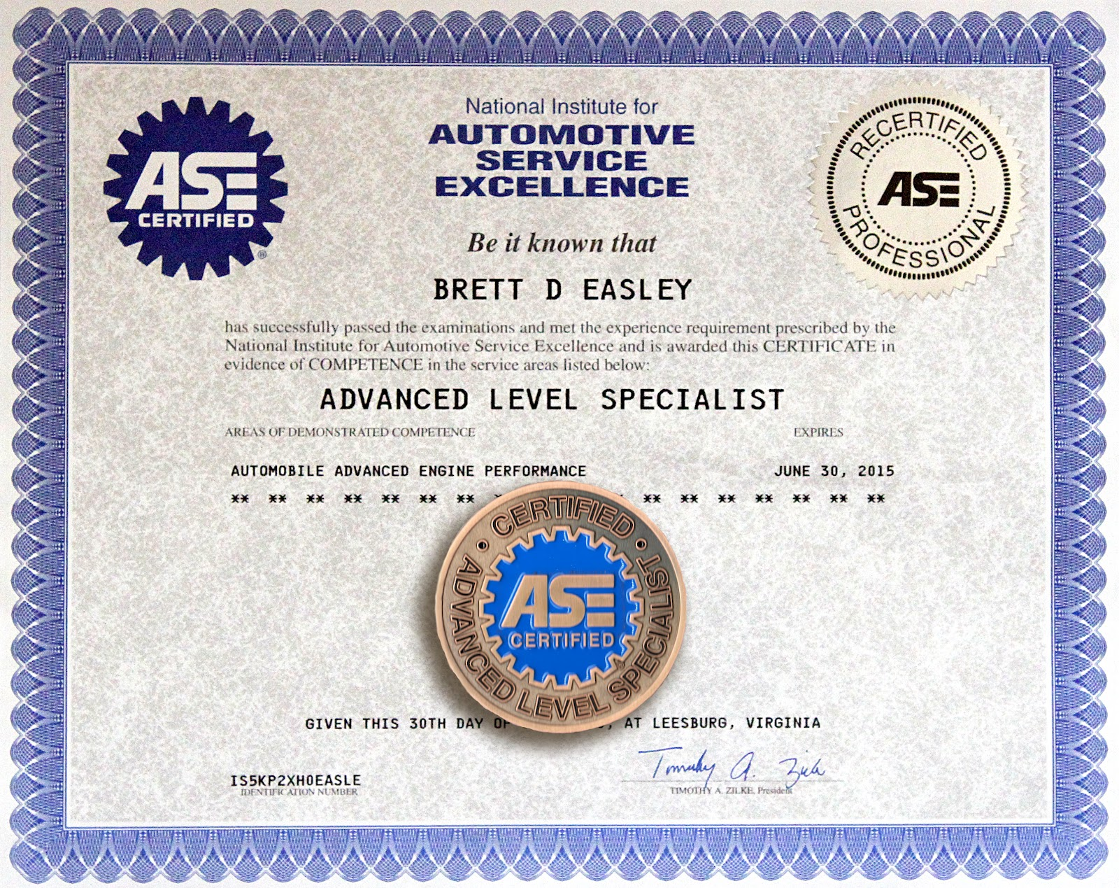 Blank ase certificate images reverse search ase certification certificate blank form pictures to pin xflitez Image collections