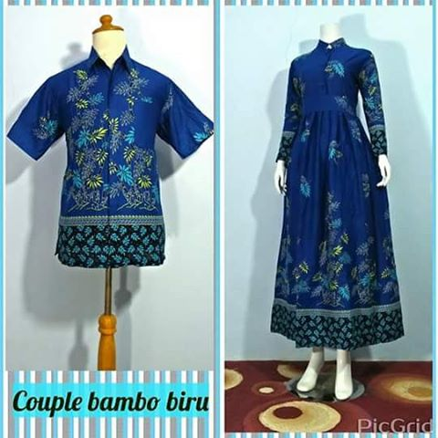 Baju Gamis Batik Wanita Muslimah