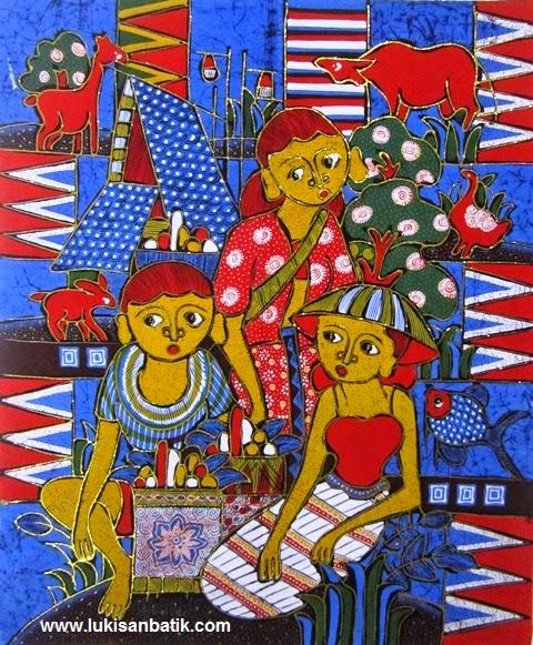 Contoh Gambar Batik Lukis Batik Painting 44  Lukisan Jakarta
