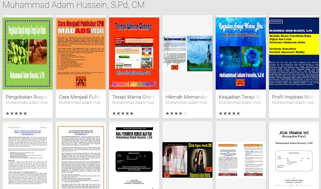 Buku Terbitan Adamssein Media tersedia di Google Play Book Store