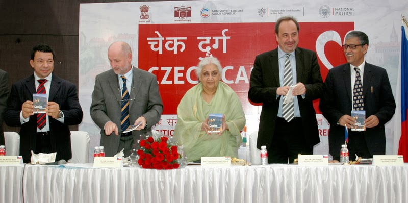 Exhibition titled 'Czech Castles', in New Delhi on November 07, 2013.