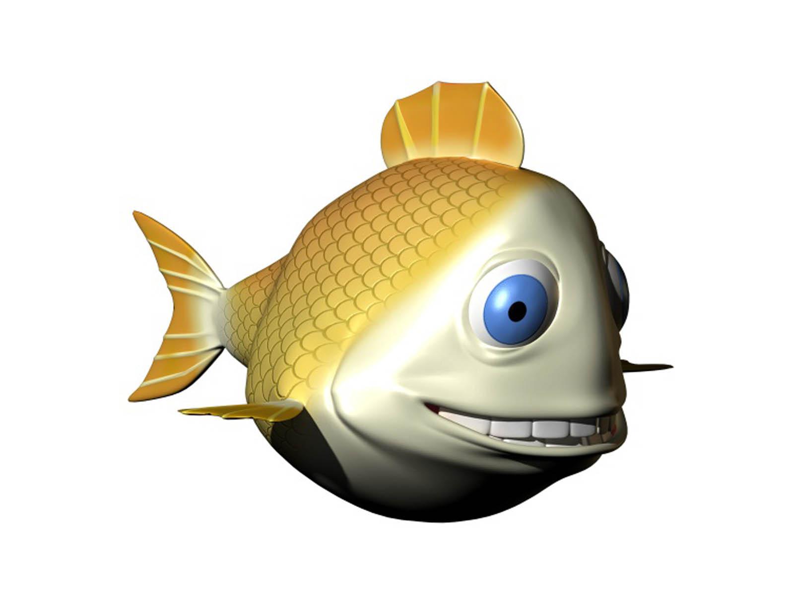 3D Fish Desktop Wallpaper Hd