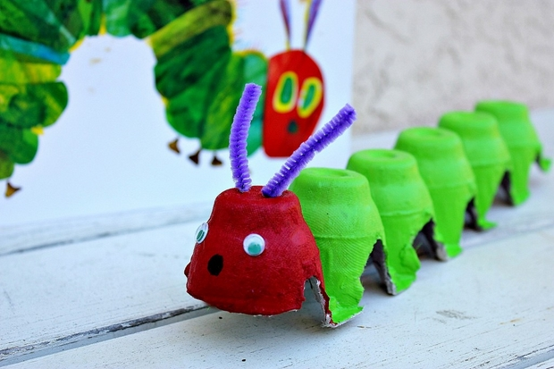 Recycle craft made from egg carton arts and crafts ideas for How to recycle egg cartons