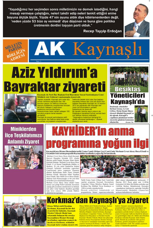 AK KAYNAŞLI GAZETESİ
