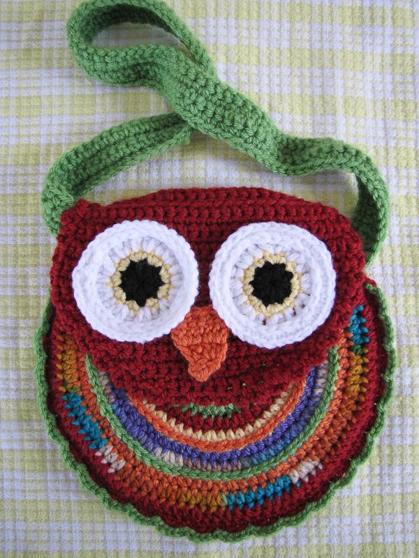 Crochet Pattern For Owl Bag : For the Love of Crochet Along: Owl Purse