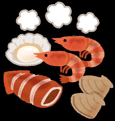 海鮮焼きのイラスト