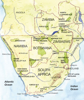 Southern Africa Map Picture