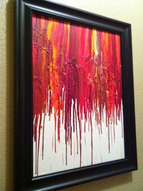 Artful expression crayon art for Crayon diy canvas