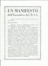 manifesto del MSI per la morte di Graziani