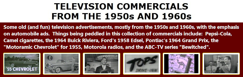TELEVISION RADIO COMMERCIALS FROM THE 1950s 1960s 1970s