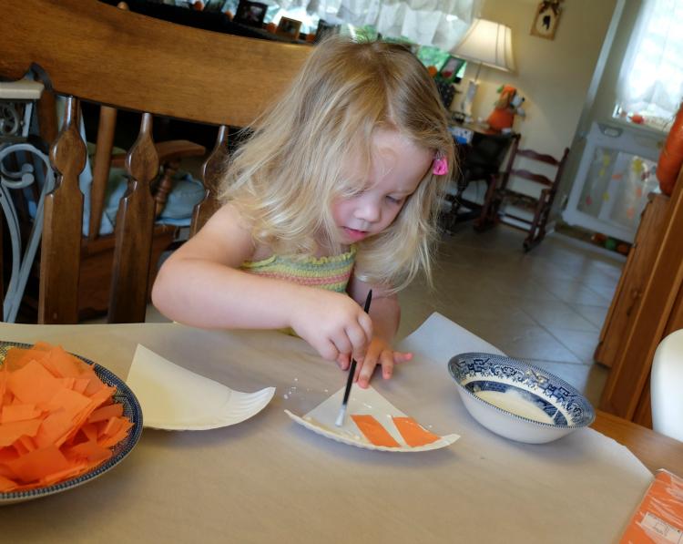 Paper Plate Pumpkin Pie Craft
