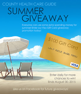 Enter the County Health Care Guide Summer Giveaway. Ends 8/30