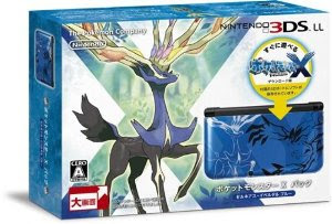 3DSLL Pokemon X pack