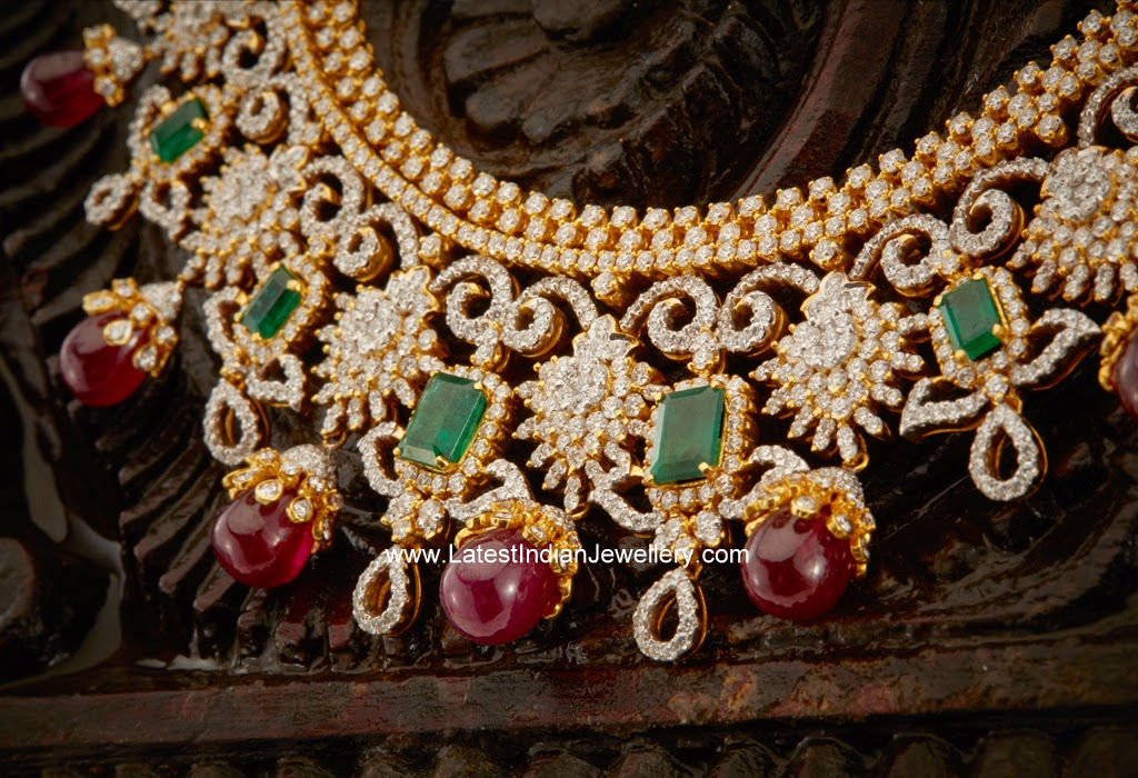 grand indian diamond necklace