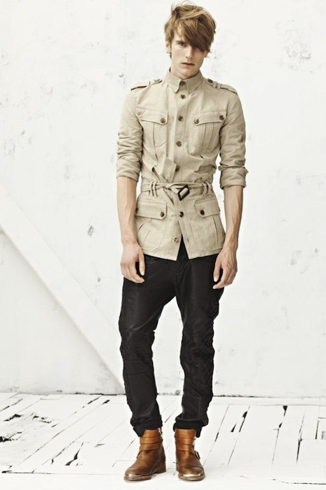 adventurous and safari style Balmain S/S 2013 Menswear