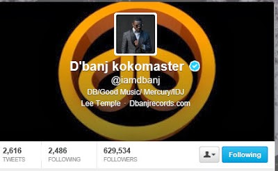 10 Nigerian Celebrities with the Highest No of Followers On Twitter.