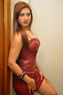 Actress Rishika  Pictures in Leather Short Dress at Naakaithe Nachindi Audio Launch Function  0119