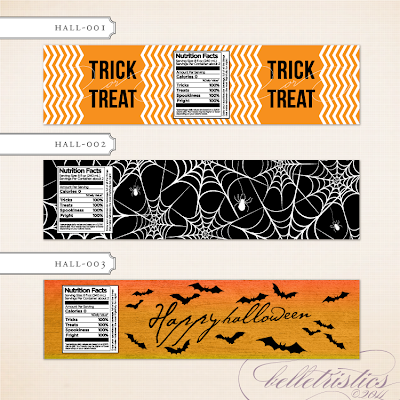 printable diy halloween party water bottle label vintage rustic spooky skull bats