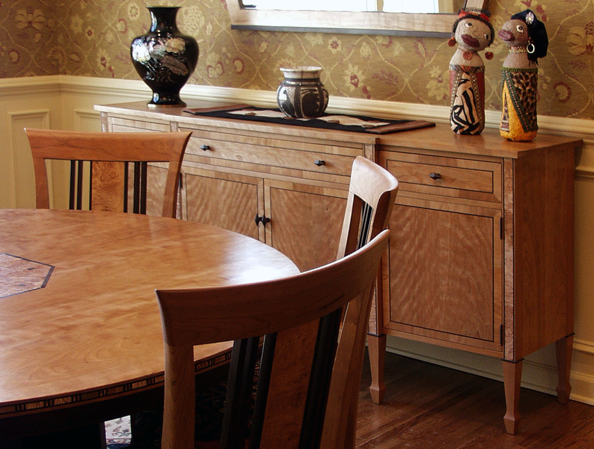 dining room set was another commission that created an intimate dining