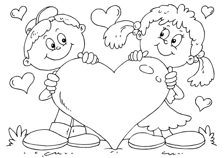 valentines hearts coloring pages - photo#12