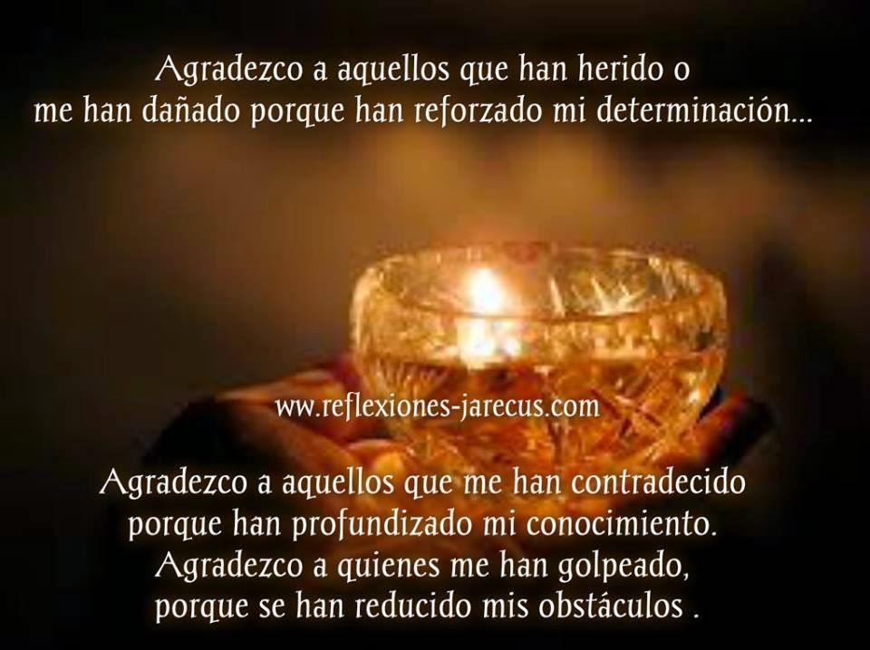 Agradezco a aquellos que han herido o me han dañado porque han reforzado mi determinación