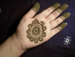 Arabic Floral Mehndi Design