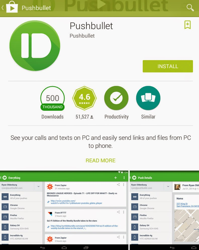 [FREE APP] [Android] Pushbullet