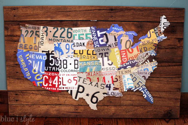 DIY License Plate Map
