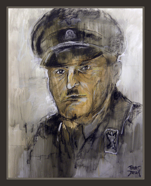 SEPP DIETRICH-PINTURA-ARTE-WAFFEN SS-III REICH-WW2-PAINTINGS-ART-RETRATOS-ERNEST DESCALS-