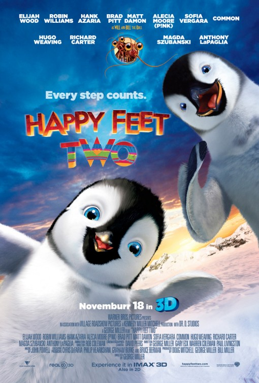 celebrities movies and games happy feet two movie poster