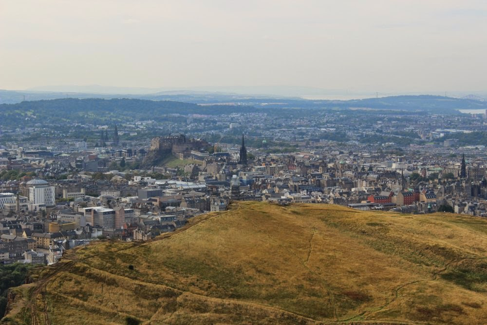edinburgh castle from arthur's seat, scotland