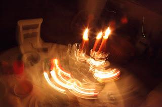 cena infantil con velas