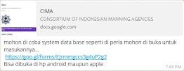 Link Database Crew CIMA didesign oleh : Dhimas Ferari