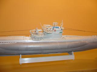 maqueta estática de submarinos de la segunda guerra mundial