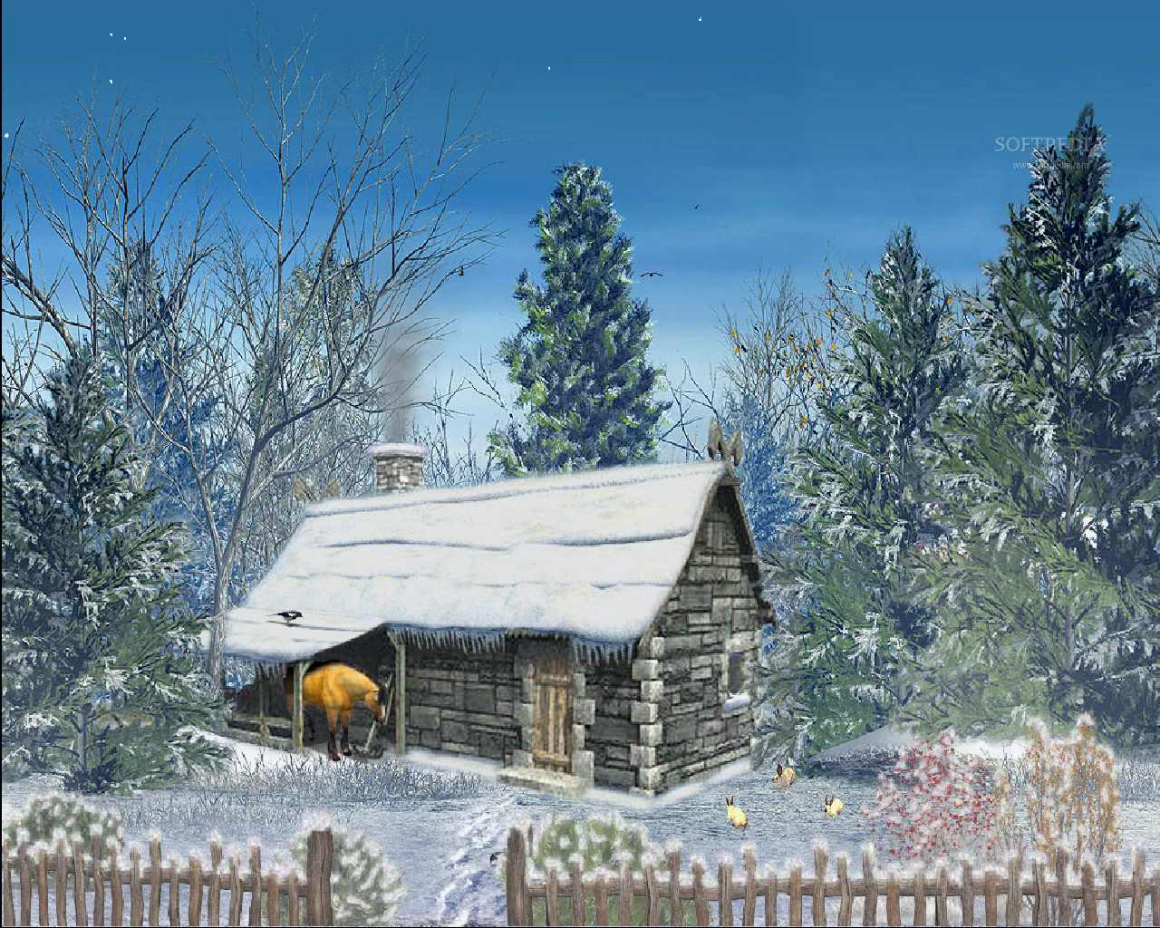 Must see   Wallpaper Home Screen Snow - Snowy-Hut-Animated-Wallpaper_1  Pic_236013.jpg