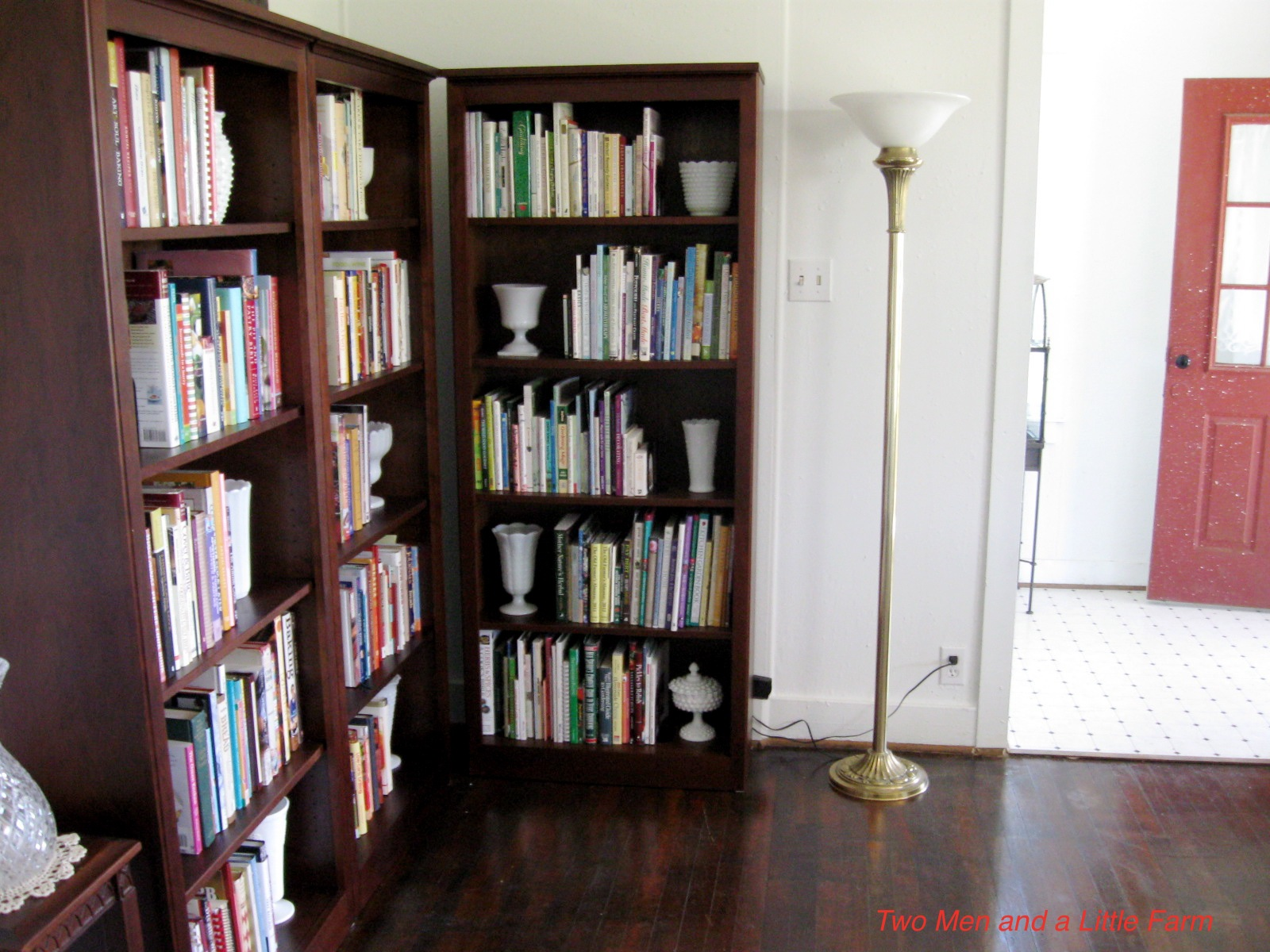 Living Room Bookcases Two Men And A Little Farm Living Room Bookcases Almost Finished