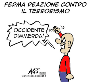 terrorismo, parigi, media, occidente, satira vignetta
