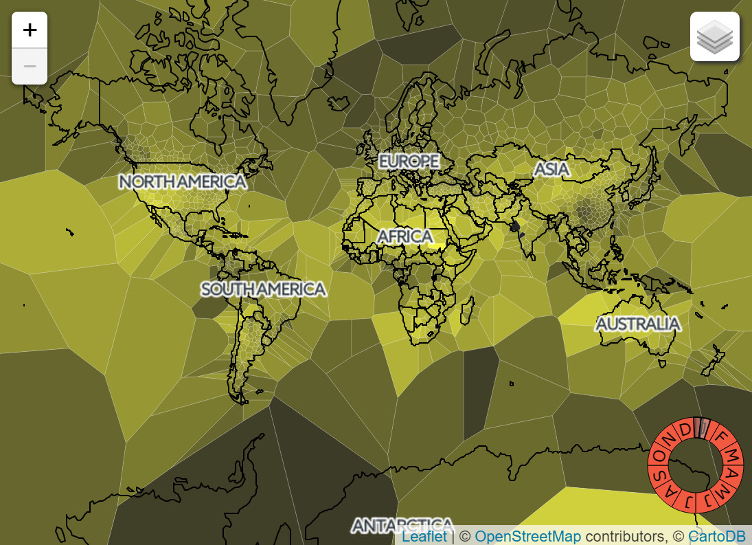 Sunshine, daily high &  precipitation maps